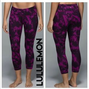 Lululemon Wunder Under Crop II Rare Roll Down,6